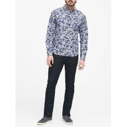 Untucked Slim-Fit Cotton Oxford Shirt