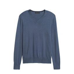 Silk Cotton Cashmere V-Neck Sweater