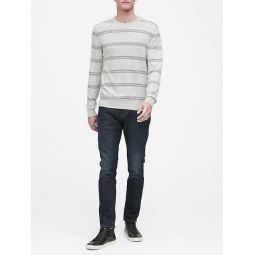 Silk Cotton Cashmere Crew-Neck Sweater