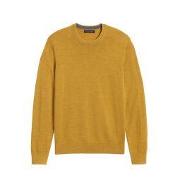 Italian Merino Crew-Neck Sweater