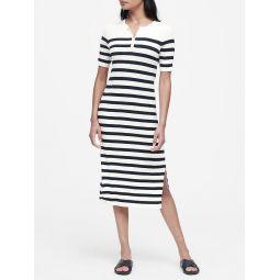 Stripe Henley Knit Dress
