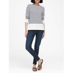 Cotton-Modal Boat-Neck T-Shirt