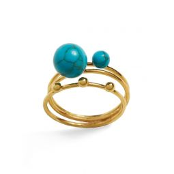 Turquoise Bauble Ring Set