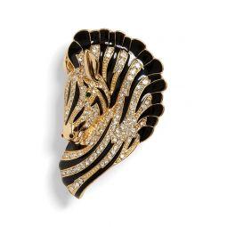Pave Zebra Brooch