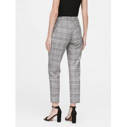 Hayden Tapered-Fit Plaid Ankle Pant