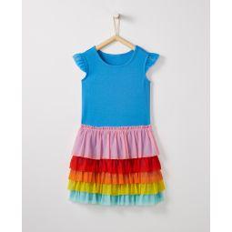 Rainbow Flutter Dress In Soft Tulle