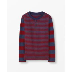 Sueded Jersey Striped Henley