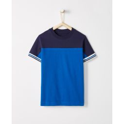 Sueded Jersey Colorblock Tee