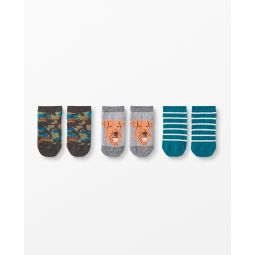 Cozy Critters Ankle Socks 3 Pack