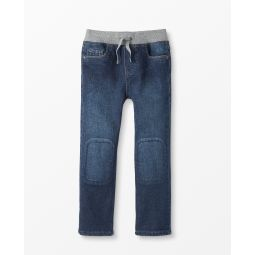 Jersey Lined Relaxed Jeans