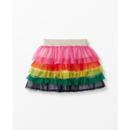 Rainbow Ruffle Skirt In Soft Tulle