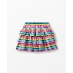 Three Tiers Striped Scooter Skirt