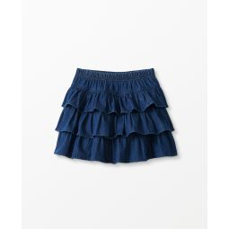 Three Tiers Chambray Scooter Skirt