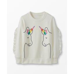 Unicorn Sweatshirt In French Terry
