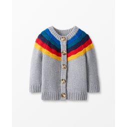 Rainbow Cardigan In Organic Cotton