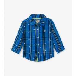 Tiny T-Rex Baby Button-down Shirt