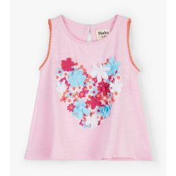 Floral Heart Baby Tank Top