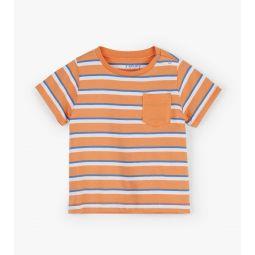 Orange Stripes Baby Tee