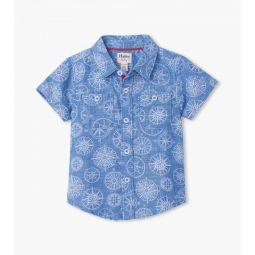 Nautical Compass Baby Button Down Shirt