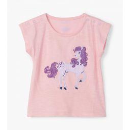 Purple Pony Baby Tee