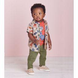 Jungle Safari Baby Button Down Shirt