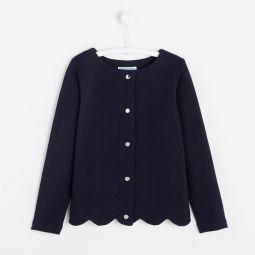 Girl fleece cardigan