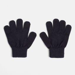 Girl gloves with Lurex details