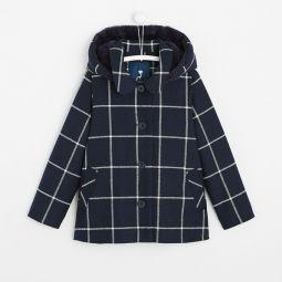 Girl short checked coat