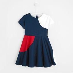 Girl cotton satin dress