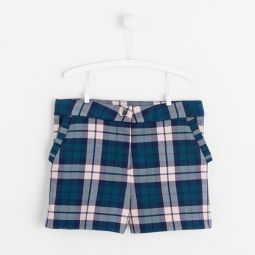 Girl flannel checked shorts