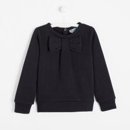Girl fleece sweatshirt with bow
