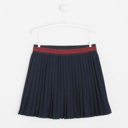 Girl pleated crepe skirt