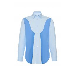 Paneled Cotton Poplin Shirt