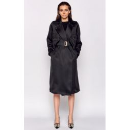 Maesa Silk Trench Coat