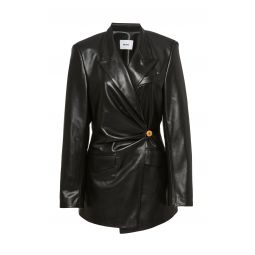 Blair Ruched Leather Blazer