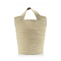 Tall Straw Tote Bag