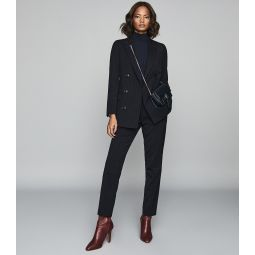 Bree Jacket Navy Pinstripe Slim Fit Blazer