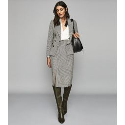 Tyler Jacket Monochrome Checked Double Breasted Blazer