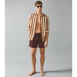Sonar Bordeaux Drawstring Swim Shorts