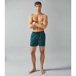 Sonar Teal Drawstring Swim Shorts