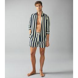 Rotto Navy Striped Swim Short