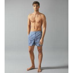 Eclipse Blue Printed Swim Shorts