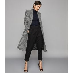 Lara Monochrome Puppytooth Overcoat