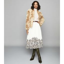 Millie Coat Cream Faux Fur Coat