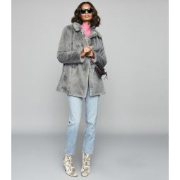 Lexington Grey Faux Fur Coat