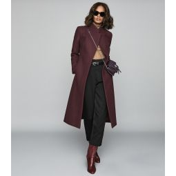 Mason Berry Wool Blend Longline Coat