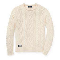 Aran-Knit Rollneck Sweater