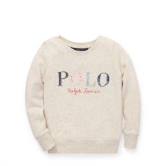 Floral Polo Terry Sweatshirt