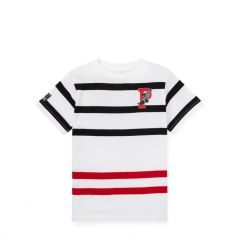 Striped Cotton Graphic T-Shirt