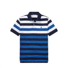 Striped Performance Lisle Polo